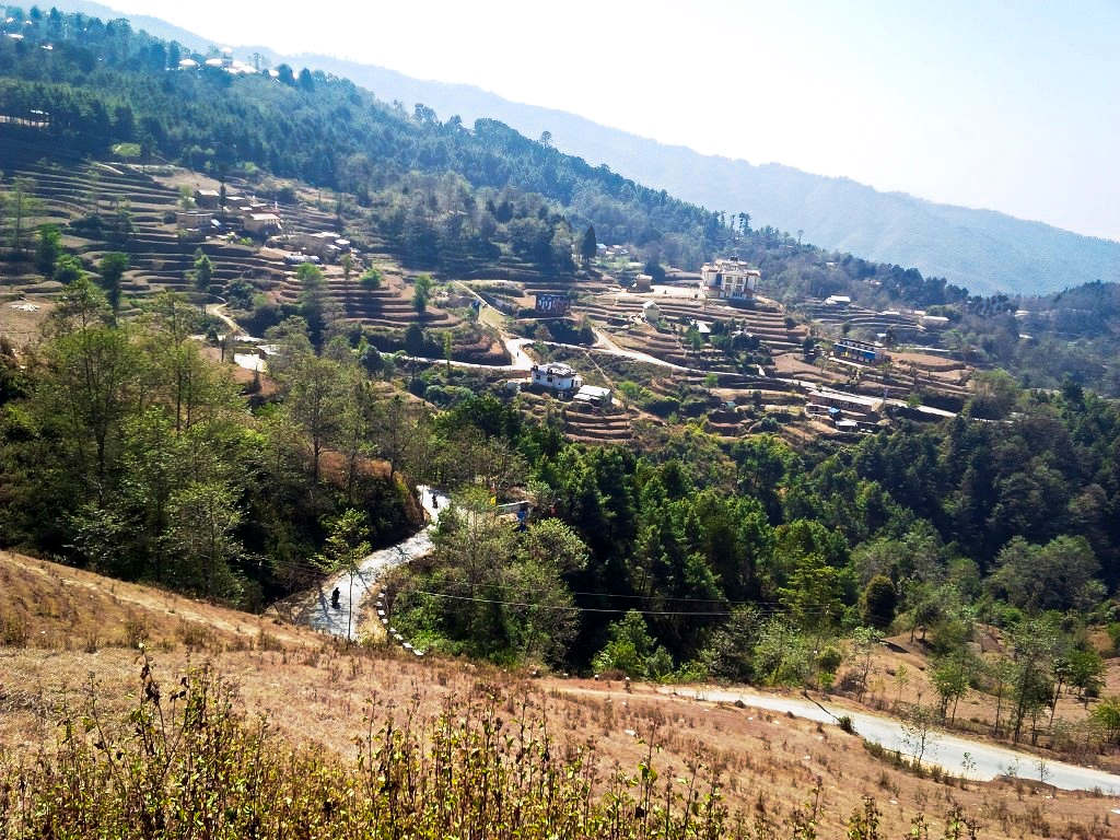 The road down from Nagarkot- FAST